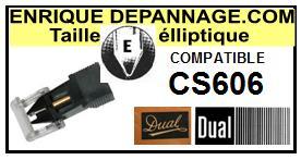 DUAL CS606  <bR>Pointe diamant elliptique pour tourne-disques (stylus)<SMALL> 2015-12</small>