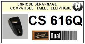 DUAL-CS616Q-POINTES-DE-LECTURE-DIAMANTS-SAPHIRS-COMPATIBLES