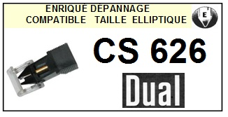DUAL CS626 <bR>Pointe diamant elliptique pour tourne-disques (stylus)<SMALL> 2015-11</small>