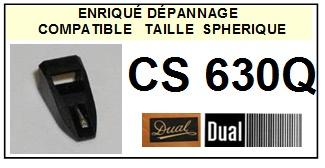 DUAL CS630Q  <br>Pointe sphérique pour tourne-disques (<B>sphérical stylus</b>)<SMALL> 2016-05</SMALL>