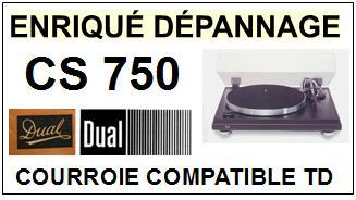 DUAL-CS750-COURROIES-ET-KITS-COURROIES-COMPATIBLES