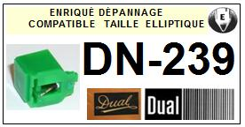 DUAL<br> DN239 DN-239 Pointe (stylus) Diamant Elliptique<small>se 2014-09</small>