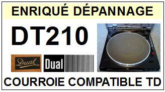 DUAL-DT210-COURROIES-ET-KITS-COURROIES-COMPATIBLES