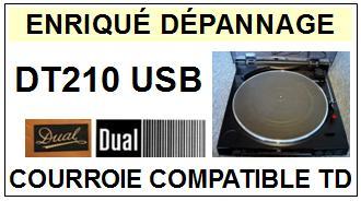 DUAL-DT210USB DT210 USB-COURROIES-ET-KITS-COURROIES-COMPATIBLES
