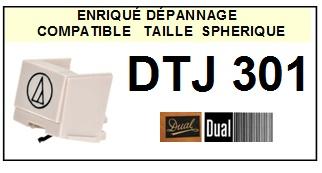 DUAL DTJ301 <BR>Pointe sphérique pour tourne-disques (<b>sphérical stylus</b>)<small> 2016-01</small>