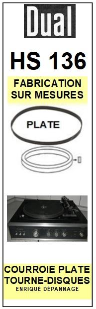 DUAL-HS136 (PLATINE  1237 )-COURROIES-ET-KITS-COURROIES-COMPATIBLES