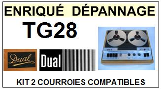 DUAL-TG28-COURROIES-ET-KITS-COURROIES-COMPATIBLES