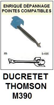 DUCRETET THOMSON<br> M390 Pointe (stylus) sphérique pour tourne-disques<br><small>a 2015-08</small>