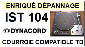 DYNACORD IST104 <br>Courroie pour tourne-disques (<B>round belt</B>)<small> 2016-01</small>