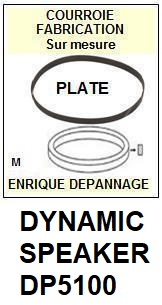 DYNAMIC SPEAKER-DP5100-COURROIES-ET-KITS-COURROIES-COMPATIBLES