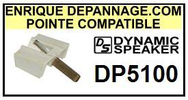 DYNAMIC SPEAKER DP5100 <br>Pointe sphérique pour tourne-disques (<B>sphérical stylus</b>)<SMALL> 2016-01</SMALL>