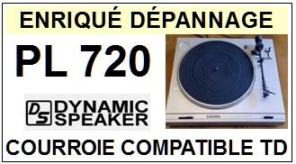 DYNAMIC SPEAKER-PL720-COURROIES-ET-KITS-COURROIES-COMPATIBLES
