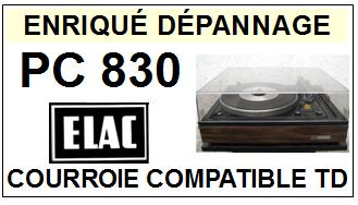 ELAC-PC830 BELT DRIVE PLUS-COURROIES-ET-KITS-COURROIES-COMPATIBLES