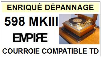 EMPIRE-598MKIII 598 MKIII  MK3-COURROIES-ET-KITS-COURROIES-COMPATIBLES