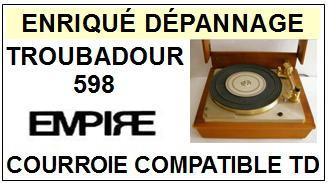 EMPIRE-TROUBADOUR 598-COURROIES-ET-KITS-COURROIES-COMPATIBLES