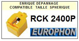 EUROPHON<br> RCK2400P   Pointe (stylus) sphérique pour tourne-disques <BR><small>se 2015-08</small>
