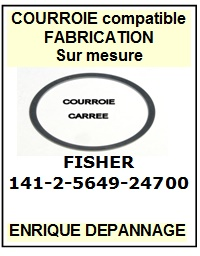 FISHER 1412564924700 141-2-5649-24700 <BR>Courroie carrée référence fisher (square belt manufacturer number)<small> 2015-12</small>