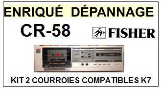 FISHER-CR58 CR-58-COURROIES-ET-KITS-COURROIES-COMPATIBLES