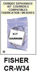 FISHER-CRW34 CR-W34-COURROIES-ET-KITS-COURROIES-COMPATIBLES