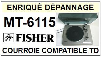 FISHER-MT6115 MT-6115-COURROIES-ET-KITS-COURROIES-COMPATIBLES