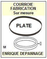 FISHER MTM45 MT-M45 <br>Courroie d\'entrainement pour tourne-disques (<b>flat belt</b>)<small> 2016-01</small>