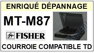 FISHER-MTM87 MT-M87-COURROIES-ET-KITS-COURROIES-COMPATIBLES