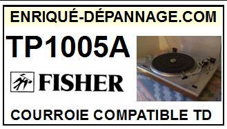 FISHER-TP1005A-COURROIES-ET-KITS-COURROIES-COMPATIBLES