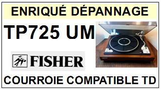 FISHER-TP725UM-COURROIES-ET-KITS-COURROIES-COMPATIBLES