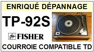 FISHER-TP92S TP-92S-COURROIES-ET-KITS-COURROIES-COMPATIBLES