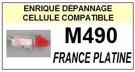 FRANCE PLATINE<br> M490 Cellule MONO diamant sphérique pour tourne-disques <BR><SMALL>s-cel 2015-04</small>