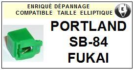 FUKAI<br> PORTLAND SB84 SB-84 Pointe (stylus) elliptique pour tourne-disques <BR><small>se 2015-07</small>
