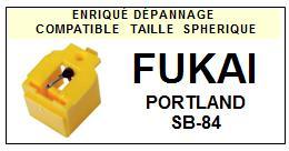 FUKAI<br> PORTLAND SB84 SB-84 Pointe (stylus) sphérique pour tourne-disques <BR><small>se 2015-07</small>
