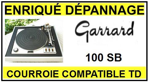 GARRARD-100SB-COURROIES-ET-KITS-COURROIES-COMPATIBLES