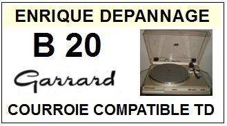 GARRARD-B20-COURROIES-ET-KITS-COURROIES-COMPATIBLES