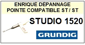 GRUNDIG-STUDIO 1520-POINTES-DE-LECTURE-DIAMANTS-SAPHIRS-COMPATIBLES