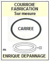 GRUNDIG<br> 7881746 7881-746 courroie (square belt) référence grundig<small> 2015-09</small>