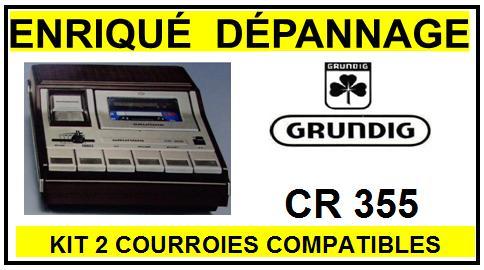 GRUNDIG-CR355-COURROIES-ET-KITS-COURROIES-COMPATIBLES