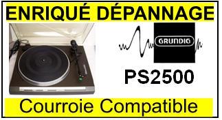 GRUNDIG-PS2500-COURROIES-ET-KITS-COURROIES-COMPATIBLES