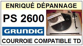 GRUNDIG-PS2600-COURROIES-ET-KITS-COURROIES-COMPATIBLES