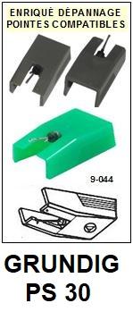GRUNDIG-PS30.  PS30 (2°MONTAGE)-POINTES-DE-LECTURE-DIAMANTS-SAPHIRS-COMPATIBLES