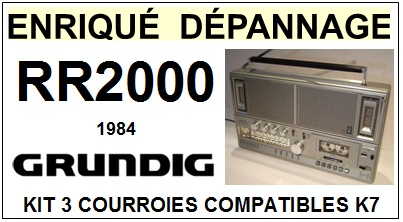 GRUNDIG-RR2000 1984-COURROIES-ET-KITS-COURROIES-COMPATIBLES