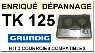 GRUNDIG-TK125 TK-125-COURROIES-ET-KITS-COURROIES-COMPATIBLES