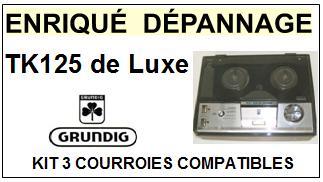 GRUNDIG-TK125 DE LUXE-COURROIES-ET-KITS-COURROIES-COMPATIBLES