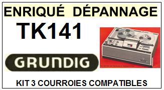GRUNDIG-TK141-COURROIES-ET-KITS-COURROIES-COMPATIBLES