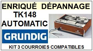 GRUNDIG-TK148 AUTOMATIC-COURROIES-ET-KITS-COURROIES-COMPATIBLES