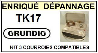 GRUNDIG-TK17-COURROIES-ET-KITS-COURROIES-COMPATIBLES