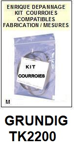 GRUNDIG-TK2200-COURROIES-ET-KITS-COURROIES-COMPATIBLES