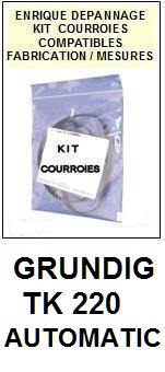 GRUNDIG-TK220 AUTOMATIC-COURROIES-ET-KITS-COURROIES-COMPATIBLES