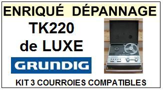 GRUNDIG-TK220 DE LUXE-COURROIES-ET-KITS-COURROIES-COMPATIBLES