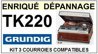 GRUNDIG-TK220-COURROIES-ET-KITS-COURROIES-COMPATIBLES